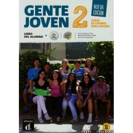 Gente Joven 2 GIM. Podręcznik+CD Nowe wydanie. Język hiszpański A1.2