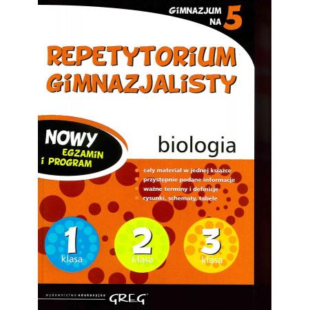 Repetytorium gimnazjalisty. Biologia. 2019