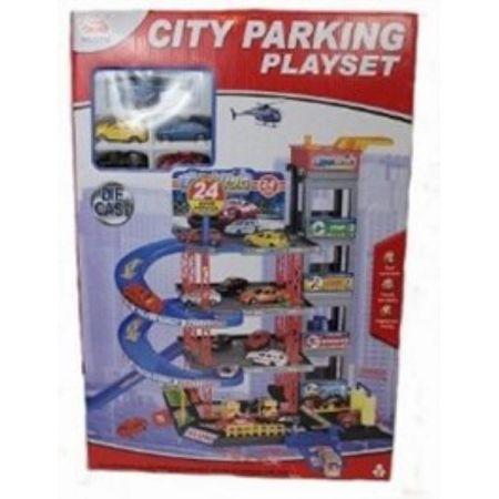 Parking 4 poziomowy + 3 samochody i helikopter 1000827