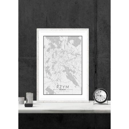 Rzym mapa czarno biała - plakat