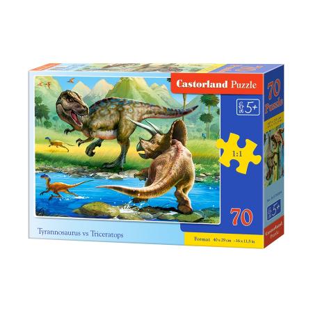 Puzzle 70 Tyrannosaurus vs Triceratops CASTOR
