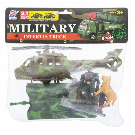 Zestaw wojsko czołg + helikopter 29x28x8cm MC