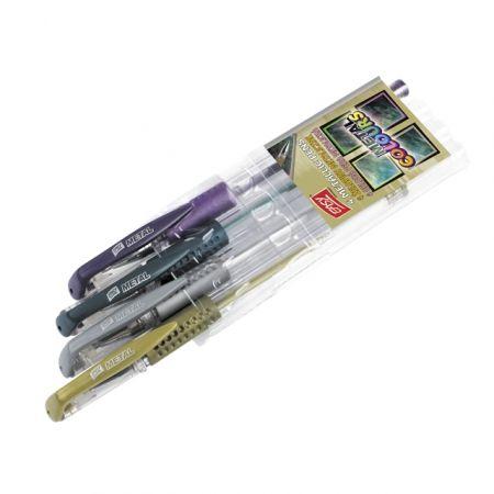 Długopis żelowy metaliczny 4 kolory EASY