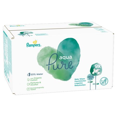 Aqua Pure Chusteczki nawilżające dla dzieci