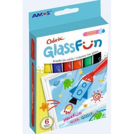 Kredki do szkła GlassFun 6 kolorów AMOS