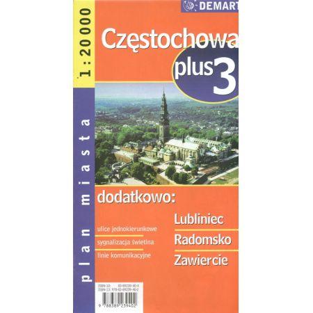 Plan Miasta Częstochowa 1:20 000 DEMART
