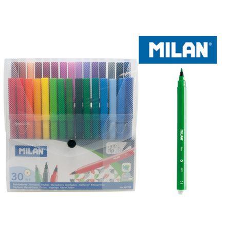 Flamastry 30 kolorów w etui MILAN