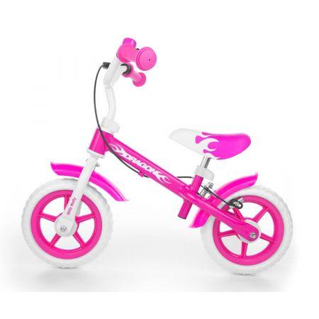 Rowerek biegowy Dragon z hamulcem pink. MILLY MALLY