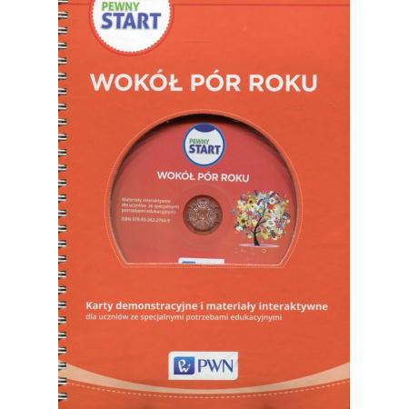 Pewny start Wokół pór roku Karty demonstracyjne i materiały interaktywne z płytą CD
