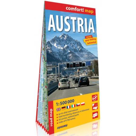 Comfort! map Austria 1:500 000