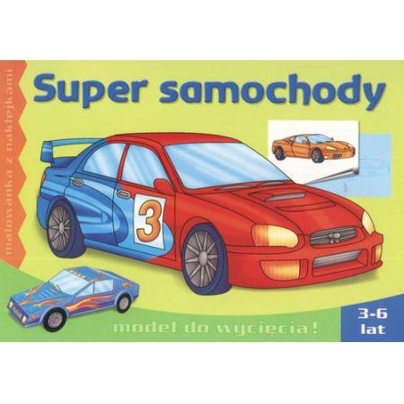 Super samochody - malowanka z naklejkami LITERKA