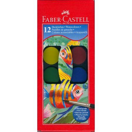 Farby akwarelowe Rybka 12 kolorów