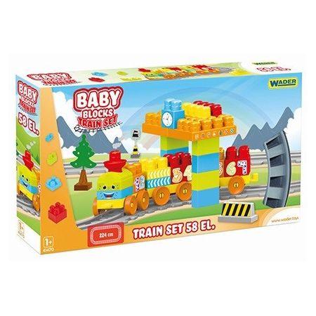 Baby Blocks Kolejka 58 elementów