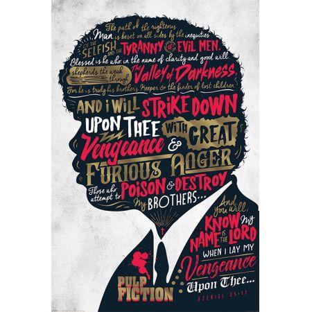 Pulp Fiction Jules Ezekiel 25:17 - plakat