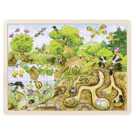 Drewniane puzzle 96 elem. Natura