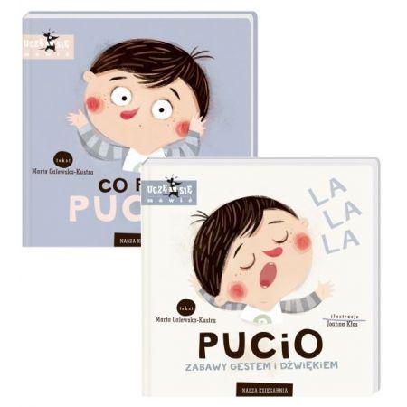 Zestaw 2 książek: Co robi Pucio? + Pucio. Zabawy gestem i dźwiękiem