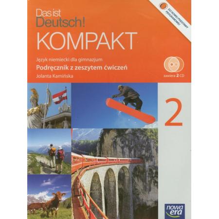 Język niemiecki. Das ist Deutsch KOMPAKT cz.2 Podręcznik z ćwiczeniami i dwiema płytami