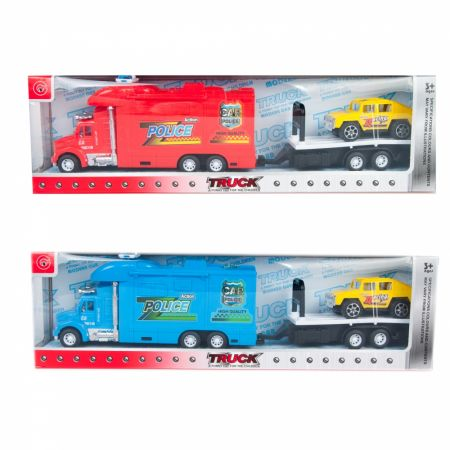Auto ciężarowe laweta Policja  akcesoria MEGA CREATIVE 462579