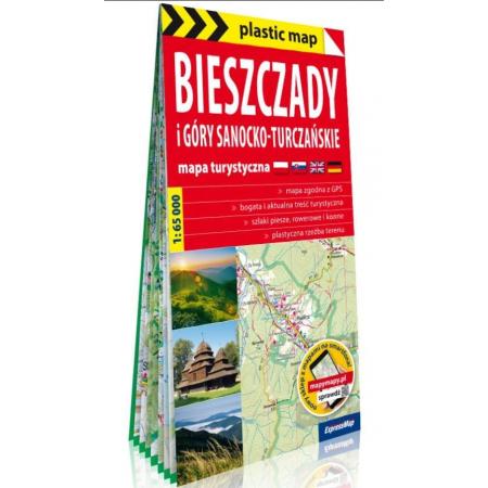 Plastic map Bieszczady i Góry Sanocko... w.2020