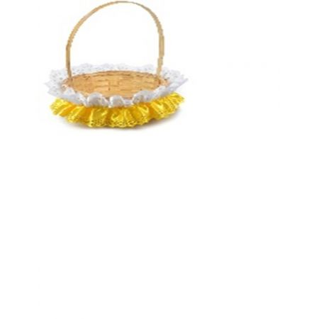 Ozdoba wielkanocna serwetka zdobiąca koszyczek
