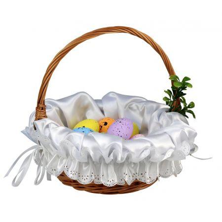 Serwetka Wielkanocna zdobiąca koszyczek