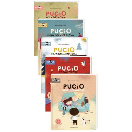Pakiet Pucio: Pucio uczy się mówić, Pucio mówi pierwsze słowa, Pucio i ćwiczenia z mówienia, Pucio na wakacjach, Pucio umie opowiadać