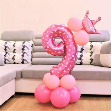 Zestaw urodzinowy 9 14elementów różowy 1400133 L&H
