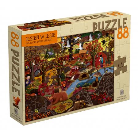 Jesień w lesie. Puzzle