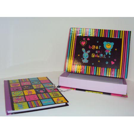 Bear and rabbit. Notes w pudełeczku z ramką na zdjęcie F360136