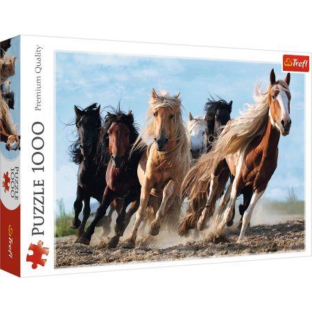 Puzzle 1000 Galopujące konie TREFL