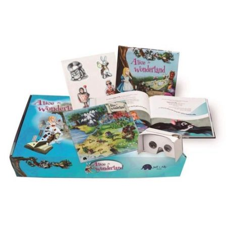 Alice in Wonderland Box set with VR glasses and accessories