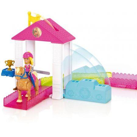Barbie Wyścig kucyków zestaw + Lalka