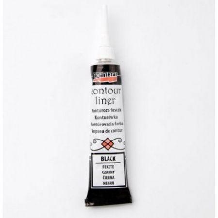 Farby Konturówka w tubie 20ml czarny PENTART 2463