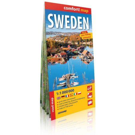 Szwecja Sweden road map 1:1 000 000