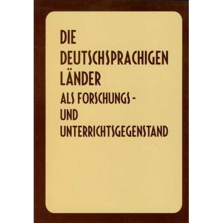 Die Deutschsprachigen lander als forschungs und unterrichtsgegenstand