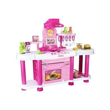 Kuchnia dla małej gosposi 70 cm różowa