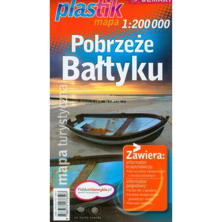Pobrzeże Bałtyku. Mapa turystyczna. 1:200 000.