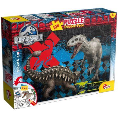 Puzzle dwustronne. Jurassic World. 108 elementów