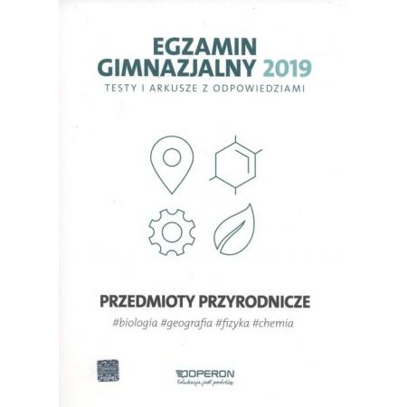 Unikalne Egzamin gimnazjalny - Testy przyrod. 2019 OPERON w TaniaKsiazka.pl BB68