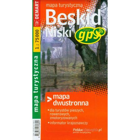 Beskid niski mapa turystyczna 1:75 000