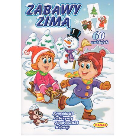 Zabawy Zimą - krzyżowki, labirynty... PASJA