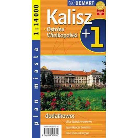Plan miasta Kalisz/Ostrów Wielkopolski +1 1:14 000