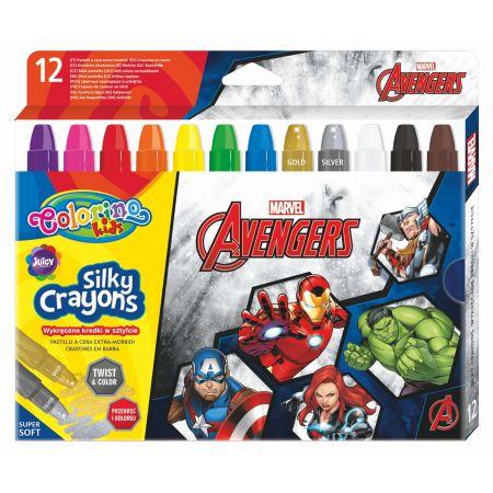 Kredki żelowe wykręcane Colorino Kids 12 kolorów Avengers