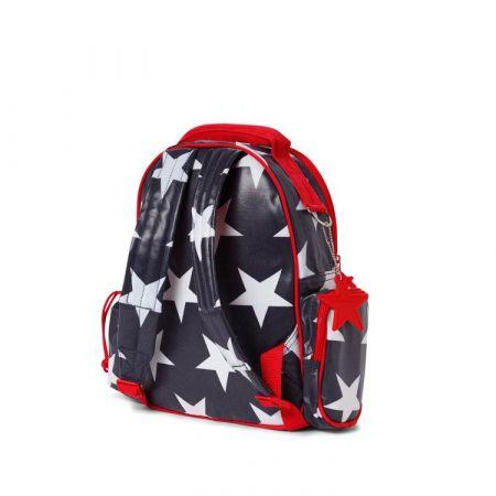 29e7b0c93218a Penny Scallan Design Mały plecak z kieszeniami granatowy w gwiazdy ...